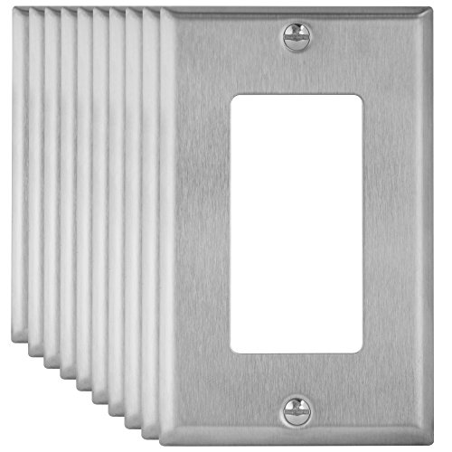 Metal 1 Gang Wall Plates - 1