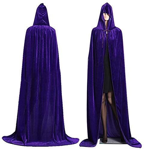 Dora Bridal Jedi Robe Cloak Hood Costume Cape Halloween Velvet Full Length Cosplay -