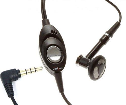 Headset Mono 3.5mm Hands-Free Earphone Single Earbud Headphone Earpiece w Mic Wired [Black] for OnePlus 6 - Samsung Galaxy A6 - Samsung Galaxy J3 ()