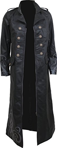 Spiral - Womens - Fatal Attraction - Gothic Trench Coat PU-Leather Corset Back - (Design Ladies Leather Trench Coat)
