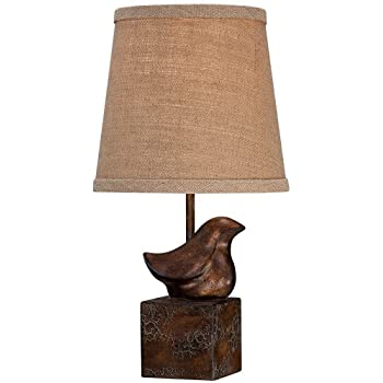 Bird Moderne Crackle Finish 15 1/2u0026quot; High Small Accent Lamp