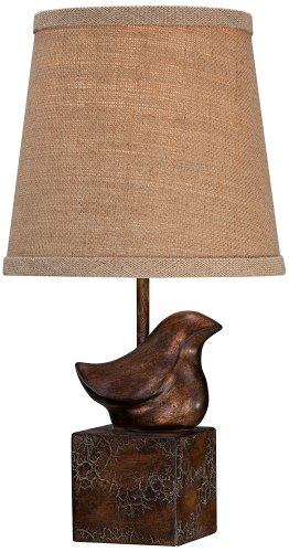 Bedroom Decorative Desk Lamps - Bird Moderne Crackle Finish 15 1/2