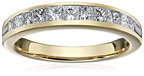 Princess Channel In 14k Gold Wedding Band (3/4cttw, H-I Color, I1-I2 Clarity)
