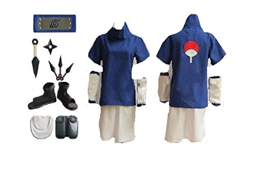 Naruto Uchiha Sasuke 2nd cosplay costume Shoes Props Whole (Sasuke Costumes)