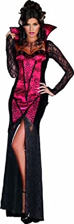 Dreamgirl Women's Just One Bite Dress, Black/Red, Small