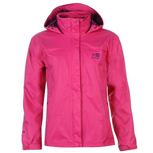 Karrimor de agua Sierra chaqueta para mujer la lluvia ligero nuevo resistente al viento Korallenrot Rosa