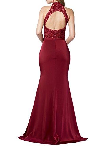 Meerjungfrau Figurbetont mia Braut Elegant Abendkleider mit Festlichkleider Blau Partykleider La Ballkleider Spitze Lang v1wxqxHp