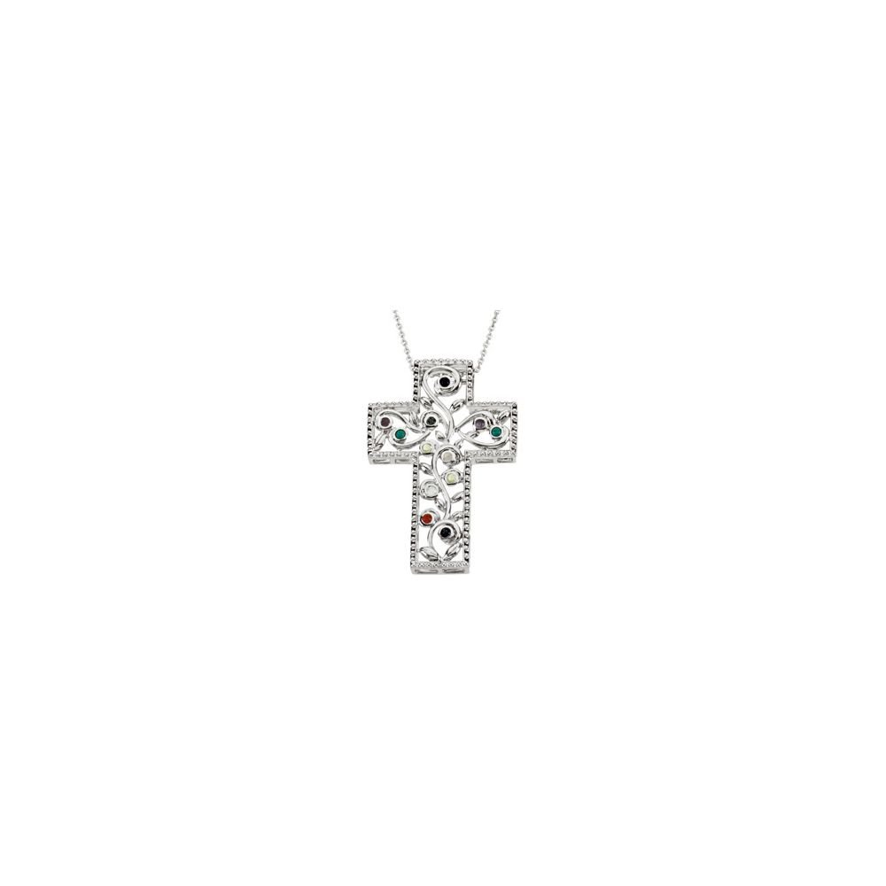 Jewels By Lux 925 Sterling Silver 12 Step Program Cross Necklace