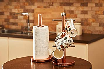 Taglia Unica Premier Housewares Portarotolo da Cucina Oro