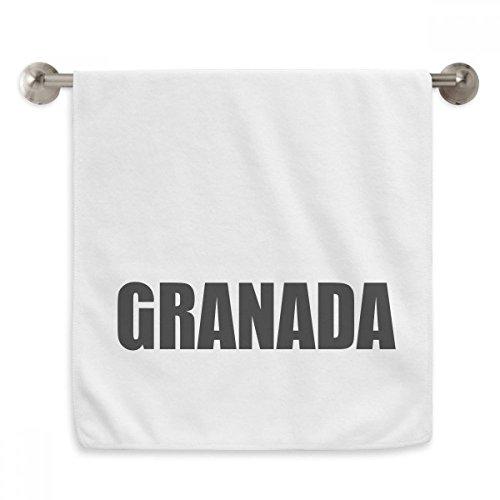 DIYthinker Granada Spain City Name Circlet White Towels Soft Towel Washcloth 13x29 Inch by DIYthinker