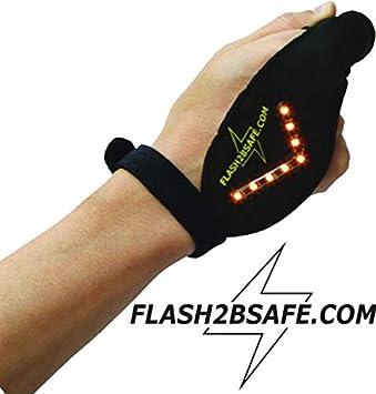Fahrrad,Bike, der Blinker f/ür Radfahrer passend f/ür alle H/ände Flash2bsafe LED Handblinker Erwachsene und Kinder Sicherheit