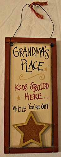 Rustic Country Wood Plaque Sign Decoration with a Metal Wire for Hanging 5 1/2 x 12 x 1 Inches. Wooden Sign Saying