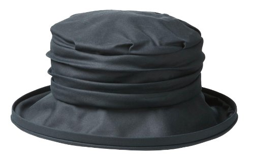 Olney Annabel Antique Waxed Cotton Waterproof Hat (Navy)
