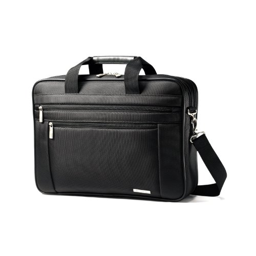 "Samsonite Classic Two Gusset 17"" Toploader (Black)"