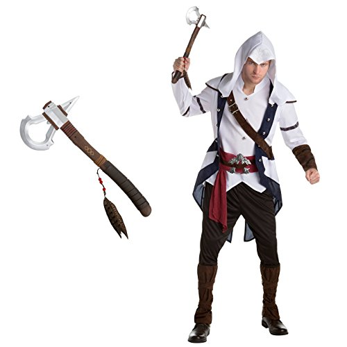 Assassin's Creed: Connor Adult Costume Bundle Kit - X-Large - Ezio Costume Cosplay