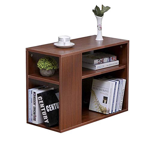 Bseack Small Coffee Table Side Cabinet, Wood Frame Double-Layer Multi-Function Rack with Roller Diversified Storage Solid Simple Mini Locker (Size : 703050cm) ()