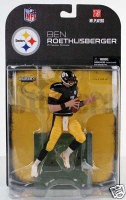 tmp international MFB18BR Ben Roethlisberger #7 Pittsburgh Steelers Black Jersey Variant Chase Alternative Clean Uniform Mcfarlane NFL Series 18 Wave 2 Action Figure, Multicolor