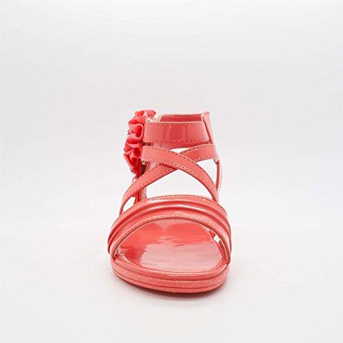 London Footwear ,  Mädchen Gladiator Korallenrot