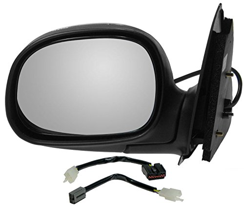 Power Side View Mirror Chrome & Black Driver Left LH for Ford F150 Truck
