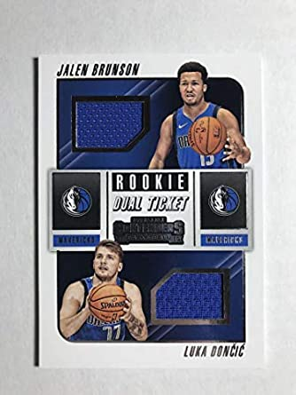 newest 00d79 36f21 Amazon.com: 2018-19 Panini Contenders Rookie Ticket Dual ...