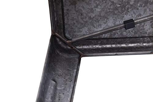 Creative Co-op DA7817 Grey & Brown Galvanized Metal Bench, Grey by Creative Co-op (Image #4)