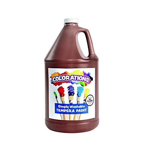 Colorations Simply Washable Tempera Paint for Kids Value Size Gallon Brown (1 Gallon)