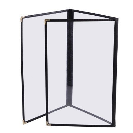 Tri Fold Menu Covers - AMPERSAND SHOPS Tri-Fold Clear Restaurant Menu Cover Letter Size Pages 8.5