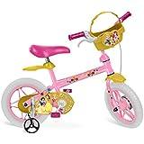 """Bicicleta Aro Princesas Disney Bandeirante Rosa 12"""""""