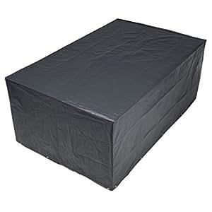 Anself Funda para muebles de jardín 90x 225x 143cm, PE), color gris oscuro