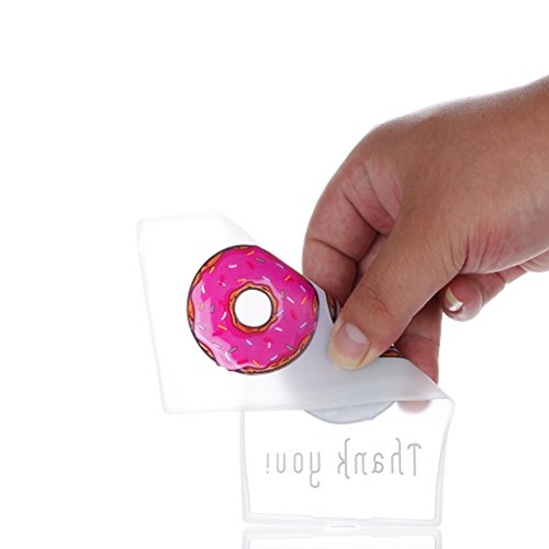 AllDo Funda para Sony Xperia L1 Carcasa de Silicona Luminoso Brillar en Oscuridad Caja Caucho Translúcido Carcasa Liso Peso Ligero Funda Diseño de Patrones Impresos Caja Suave Flexible Carcasa Resiste Doughnuts Deliciosos