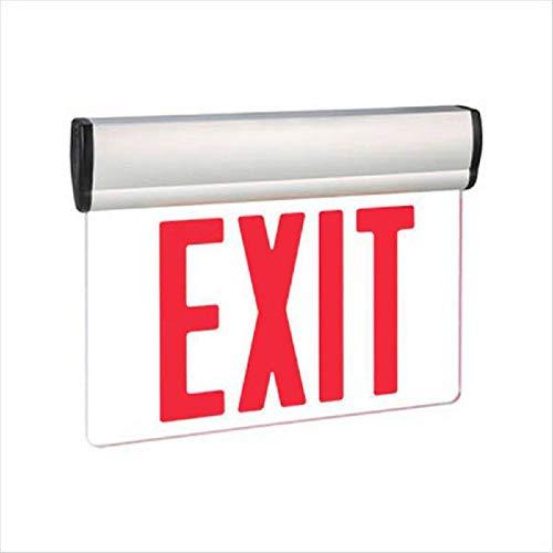 LED Exit Sign - Universal Edge-Lit - Red Letters 120/277 Volt and Battery Backup - Exitronix - Volt Edge 277 Lit Led