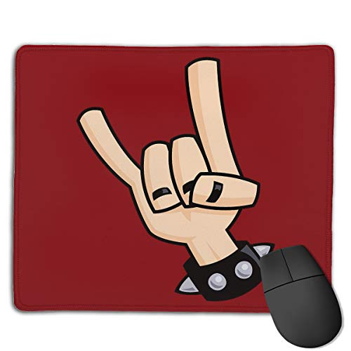 Kim Mittelstaedt Custom Heavy Metal Devil Horns Hand Rectangle Waterproof Material Non-Slip Rubber Gaming Mouse -