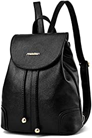 AIgogo Mini Leather Backpack Purse for Women Girls Small Fashion School Bag Rucasack Shoulder Travel Bags