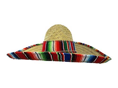 Jacobson Hat Company Cinco de Mayo Sombrero with Serape Band Mexican, Multicolor, Adult ()
