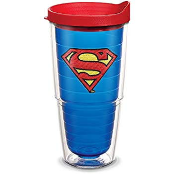 Tervis 1160206 Superman Clear Logo Tumbler with Wrap and Red Lid 24oz