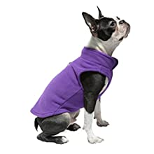 Gooby Every Day Fleece Cold Weather Dog Vest for Small Dogs, Lavender, Medium