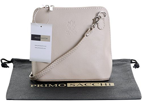 Hand Made Beige Branded Bag Italian Handbag Soft Protective a Light Cross Leather Micro Body Bag Bag Small or Includes Storage Sacchi Primo Shoulder BwXIqFn