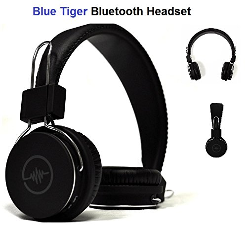 Blue Tiger Soundtrax Universal Handsfree Bluetooth Wireless Headset For Galaxy/Iphone/LG - Devices Black