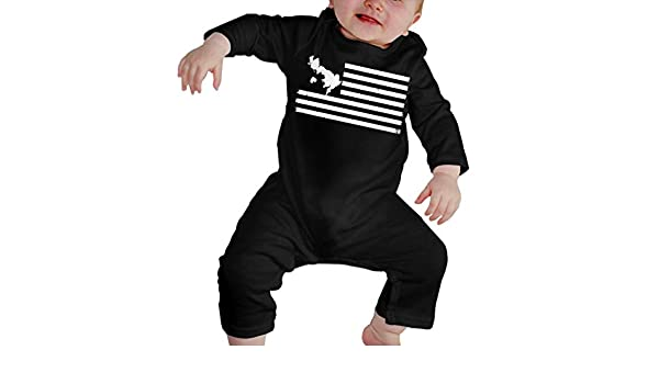 UGFGF-S3 British Flag USA Baby Boy Long Sleeve Romper Jumpsuit Bodysuits