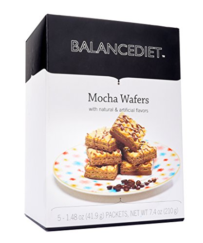 BalanceDiet | High Protein Mocha Wafers | Healthy Snack or Dessert | 5 Pack