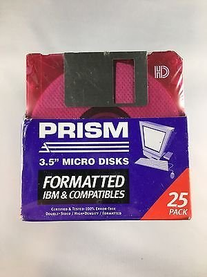 Prism 3.5'' floppy micro disks 25 pack by Prism