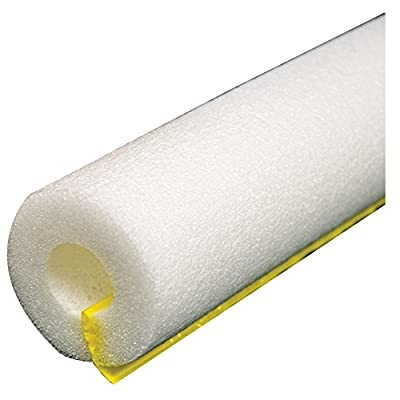 "Jones Stephens, JS 1-5/8"" ID (1-1/2"" CTS 1-1/4"" IPS) White Self-Sealing Pipe Insulation, 1/2"" Wall Thickness, 2.737 R Values - I53158W"