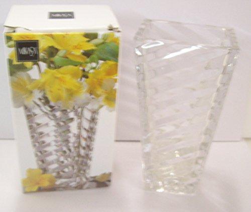 "Mikasa Angles Crystal Rectangular Vase 7"" tall"