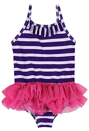 belamo Infant Baby Girls Swimwear Stripe lace Skirt Ruffle Swimsuit 0-6 Months ()