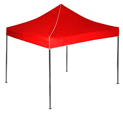 Stalwart Pop-Up Instant Canopy Tent, 10-Feet by 10-Feet, Red
