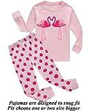 Little Pajamas Girls Pajamas Flamingo 100% Cotton Toddler PJS Kids Shirts children Sleepwear Clothes Size 3T
