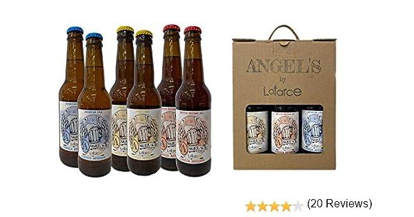 Cervezas Artesanas Latarce | Pack Cartón Mix 6 Cervezas Angels By Latarce | Cervezas Artesanas | Cerveza Artesana: Amazon.es: Alimentación y bebidas