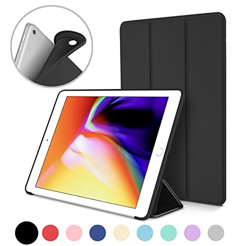 New iPad 2017 iPad 9.7 Inch Case, DTTO Ultra Slim Lightweight Smart Case Trifold Cover Stand with Flexible Soft TPU Back Cover for iPad Apple New iPad 9.7-inch [Auto Sleep/Wake]