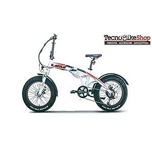 41yPdNPt0dL. SS300 Tecnobike Shop Bici elettrica a Pedalata Assistita Pieghevole LEM Miami Confort Fat-Bike Folding 250W 36v 10Ah Batteria…