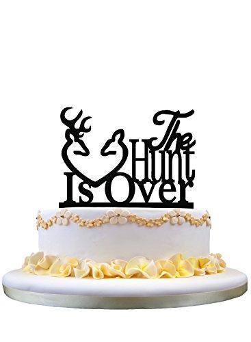 Deer The Hunt is Over Acrylic Wedding Cake -